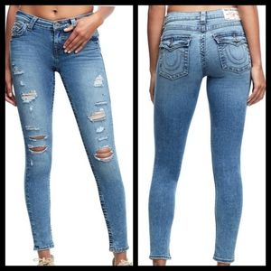True Religion Halle Mid Destroyed Skinny Jeans
